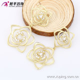 Xuping Fashion 14k 금 Plated Flower Luxury Zirconia Earring 90041