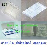 Sterile nichtgewebte Schwamm-chirurgische saugfähige sterile Abdominal- Aktien Kxt-Ns17