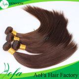 Prolonge humaine malaisienne brun clair de cheveu de Vierge des meilleurs prix