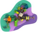 Kind-Vergnügungspark-Spielplatz-kombiniertes Plastikplättchen