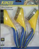 Spazzola di plastica della manopola collegare d'ottone/di acciaio inossidabile di Steel/PP (YY-510)