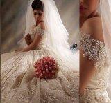 Мантия шарика венчания шнурка с платья венчания H20175 плеча Beaded нового Bridal
