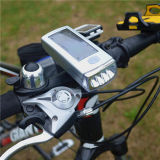 Bicicleta 4 LED Solar Powered USB recargable bicicleta de la lámpara de luz delantera