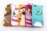 monstruos Sulley del silicón de la historieta 3D/caso del gato/del tigre para iPhone6