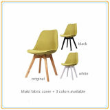 Restaurant Chairs/salle à manger Chairs/Home Chairs avec Khaki Fabric Cover et Original Wooden Legs