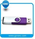 Disco de destello del USB del eslabón giratorio de la promoción con la cubierta del metal