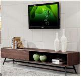 MDF mit Walnuss-hölzernem Furnier-Blatt Fernsehapparat-Standplatz &Cabinet (TV027)