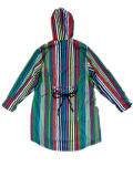 PVC Raincoat de Stripe Hooded del contraste para Woman