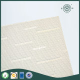Maille tissée blanche de décoration de maison de vinyle de textile de tissu à la maison de PVC