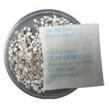 L'argilla naturale copre il diseccante con il campione libero