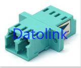 Duplex del LC milímetro del Aqua con el adaptador óptico de fibra del borde