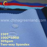 Tela polar del paño grueso y suave del Spandex de dos vías del poliester para las chaquetas de la ropa (GLLML251)