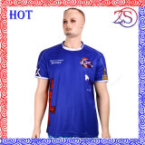 Camiseta al por mayor 100% de la sublimación del deporte del poliester