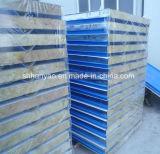 100mm gewölbtes Felsen-Wolle-Zwischenlage-Panel in den Behältern