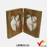 フランスのハンドメイドの木製のハート形のおかしい写真フレーム