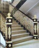 Barandilla de madera verdadera elegante de la aleación de aluminio de la manera popular