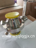Sanitária aço inoxidável roscado Welded Ball-borboleta Válvula da braçadeira
