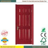 Zusammengesetzte hölzerne Tür-hölzerne Tür-Innenglastür PVC-Tür