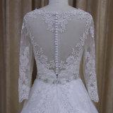 Длиннее платье венчания шнурка втулки дешево плюс мантии размера Bridal