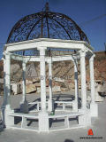 백색/Yellow/정원 Decoration를 위한 Red Marble Carving Gazebo