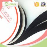 Crochet et boucle de nylon de la bande 100 du noir 25mm d'accessoires de vêtement