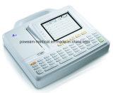 Máquina do electrocardiógrafo ECG da canaleta do hospital 6 (EM06)