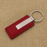 Custom Cheap Black PU Leather Key Ring com logotipo laser