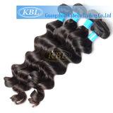 estensione brasiliana nera naturale non trattata dei capelli umani del Virgin del grado 5A migliore