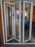 La finestra piegante di alluminio di colore grigio per il servizio dell'Australia, Flyscreen è disponibile (CL-W1020)