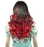 Form-Frauen-Farben-Höhepunkt-blenden ordentlicher KnallRinglet Farben-Perücken