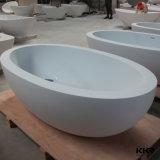 Banheira autônoma da resina de pedra oval simples pequena (BT1608180)