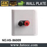 Venta caliente 86 Estilo Cabeza del plátano de pared placa de audio del altavoz del zócalo de pared