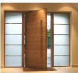 Porte d'entrée en bois de bois de construction décoratif populaire pour la maison