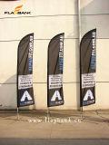 bandiera di volo di mostra di 3.4m/bandierina portatili di alluminio della piuma