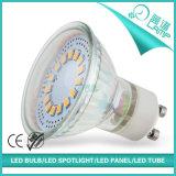 Proyector caliente del vidrio 3W GU10 LED de la venta 2835SMD