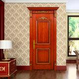Puerta de oscilación interior de madera sólida de Oppein Brown (MSSD07)