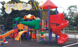 Kids Plastic Slides (YL-W005)를 가진 Children Outdoor Playground 제조자