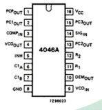 Fase-sluiten-lijn met de Geïntegreerde schakeling van Vco IC 74hc4046ad