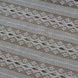 ジャカード網の衣服のアクセサリのためのナイロンレースのファブリックかトリミング