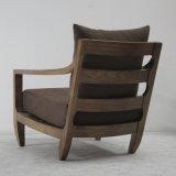 Wood contínuo com o sofá Chair de Linen Fabric Comfortable