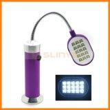 LEDの軽い磁石ベース適用範囲が広いアルミニウム夜ランプ回転夜ランプ