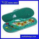 Deslizador y sandalia de la impresión de la flor del PVC para los hombres (13L033)