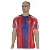 Camiseta respirable de la impresión de la sublimación del tinte