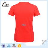 Usage sportif fait sur commande d'équipe de sports de T-shirt de femmes d'ODM