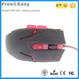 El mejor ratón atado con alambre 6D óptico ergonómico del juego del USB