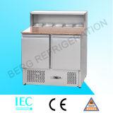 Réfrigérateur à compteur Gastronorm à basse hauteur-S901-2 tiroir