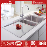 40X21 Inch Edelstahl Top Mount Double Bowl Handmade Kitchen Sink mit Drain Board
