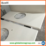 China Jazz White Quartz Vanity Tops für Hospitality