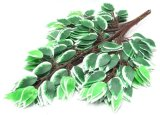 녹색과 백색 Ficus 구 Jy902121316의 인공적인 플랜트 그리고 꽃