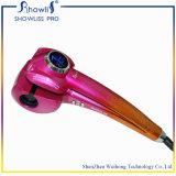 Showliss personalizada eléctrica rizador de pelo de cerámica mini LCD rizador de pelo